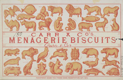 Advert For Carr & Co.'s Menagerie Biscuits